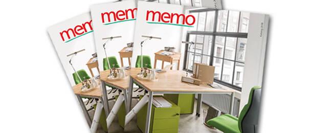 memo stellt neuen Katalog für Büromöbel vor